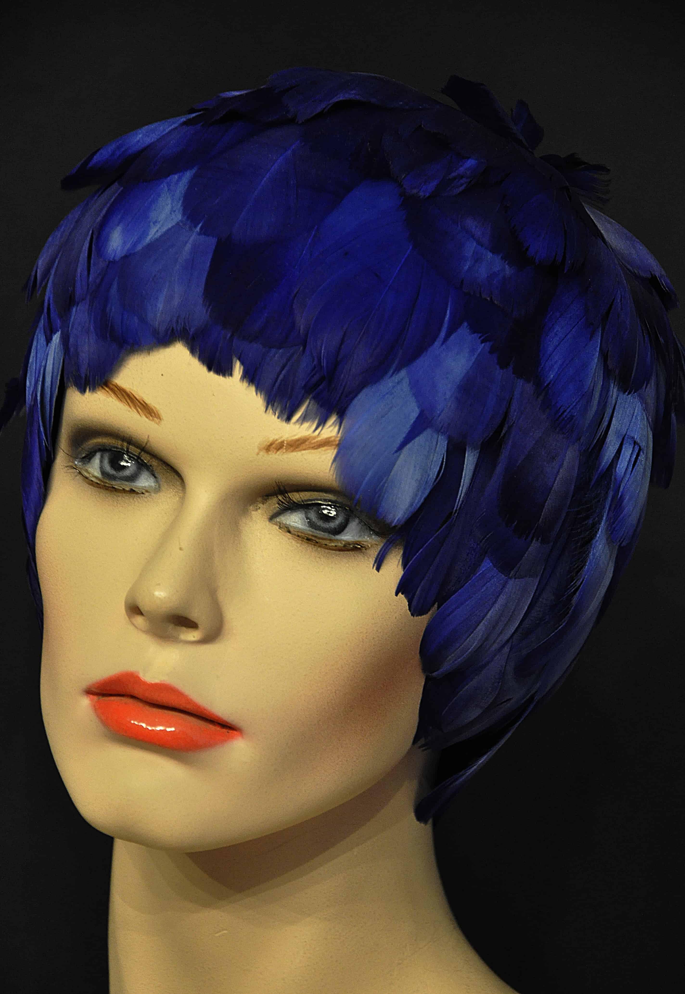 Federnperücke-blau
