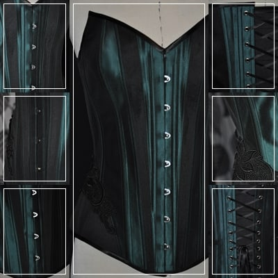 Korsett-green-black