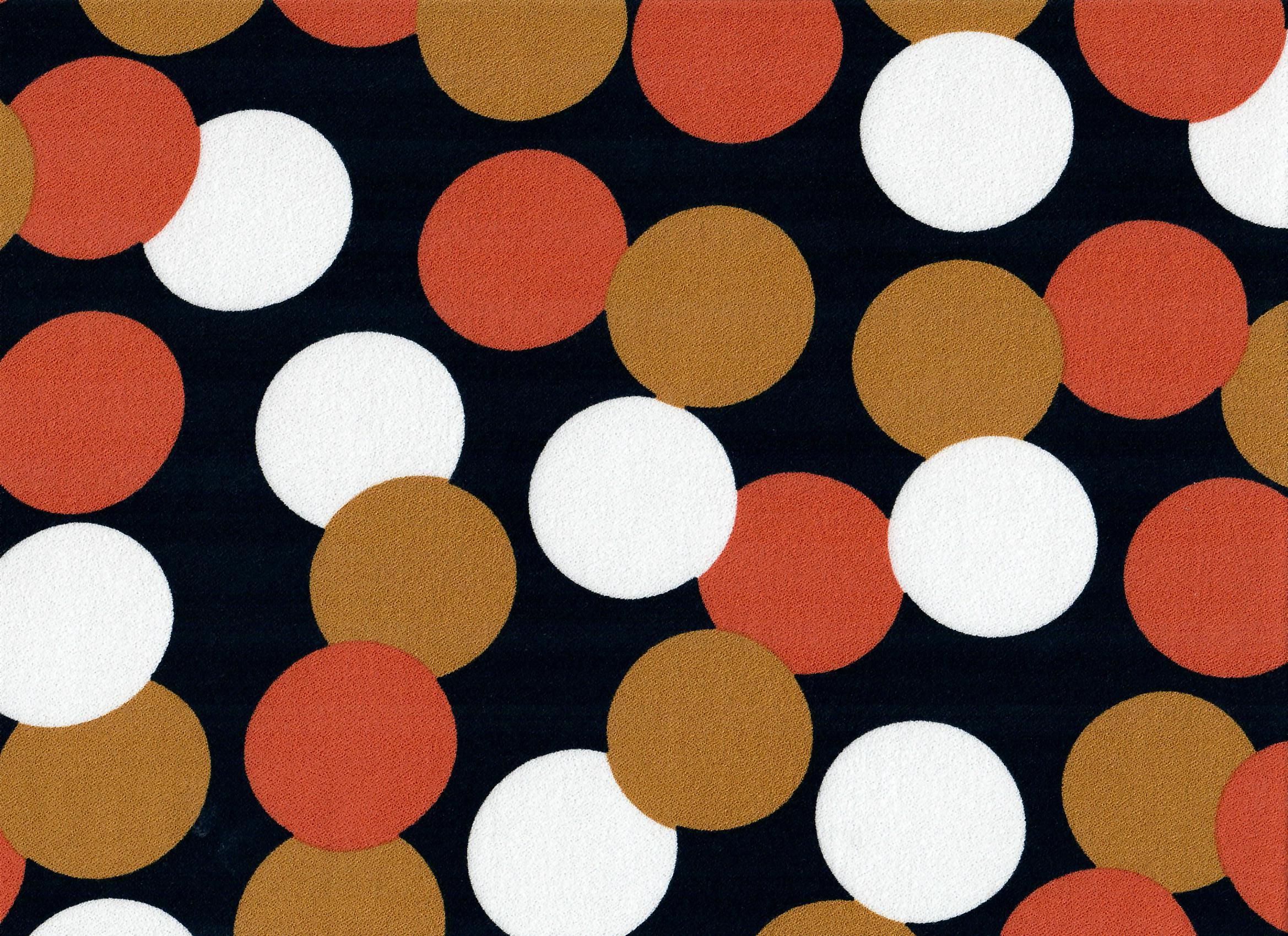 Dots - schwarz orange natur