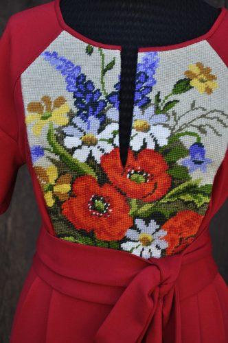 Gobline Kleid - Blumen rot 2