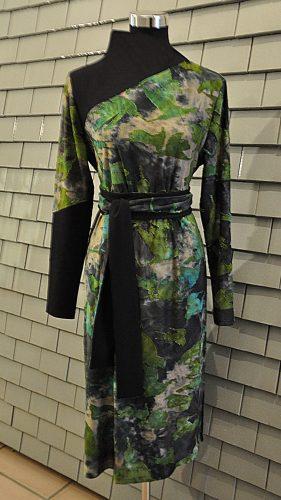 Kleid - grüne Vögel